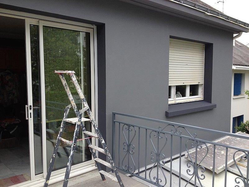 R aliser une peinture de fa ade for Peinture facade couleur